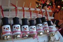 Christmas....Ornaments Wooden/Spools/Spoons/ect / by Diana Shires
