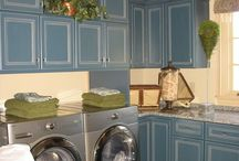 Laundries / Creating a laundry that has storage but looks good too.