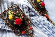 Flowers Brooch, brooch for womans, gift for her, accessory for jeans