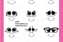 Sweet Faces Set 3 / Clear stamp from pinkandmain.com