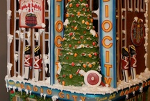 Gingerbread Houses / Who says gingerbread is only for the holiday season? Just like any Sweet Lisa's custom designed cakes or cookies, gingerbread creations can be made to exact detail based on something real or from your imagination. Displayed for a while and then gobbled up, gingerbread creations can be made all year round.