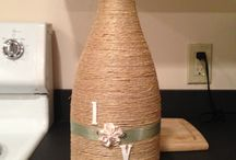 Wrapped wine bottles