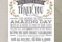 wedding thank you cards for reception