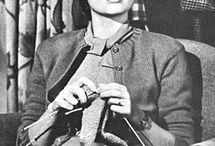 woman knitting - crochetting  - photography
