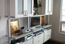 Home Office / Featuring custom organization systems designed for home office spaces.