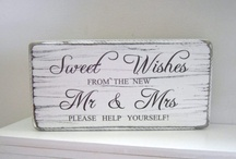 Signs for Candy bar