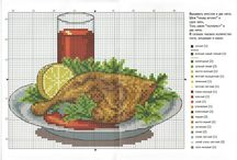 Cross stitch - food
