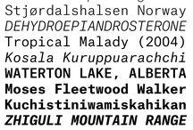 Typefaces: Monospaced