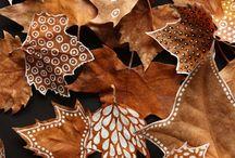 Feuilles d'automne décorée