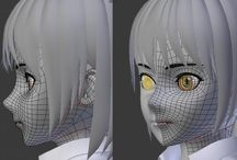 anime face topology