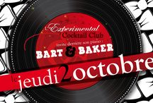 Bart&Baker flyers / Since 2007 Bart&Baker have taken part and produced many parties. Here is a little selection of the flyers.  Burlesque, electro swing, cocktail, parties