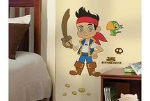 Sam / boy's room with pirate / jake and the neverland theme. stripes? treasure maps? clever uses of space and room to grow!