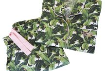 Beverly Hills Hotel Martinique Banana Leaf Collection / Celebrating our exclusive Martinique Banana leaf sleepwear collection for the Beverly Hills Hotel
