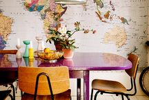 World Map / Mappe geografiche decorative