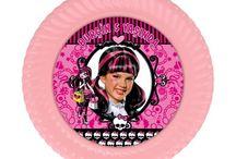 Monster High Doğum Günü Ürünleri / Monster High Kişiye Özel Parti Malzemeleri