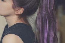 Pelo De Color Púrpura