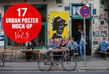 """Urban Poster Mock-up VOL.5 / EACH SMART OBJECT IS EDITABLE WITH ISO """"A"""" PAPER SIZES"""