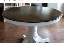 Chalk paint oak tables