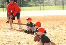Hey Batter Batter / Kinda signed up to be a Tee Ball coach  / by Emily Ann Evans