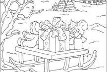Colouring ~~ Christmas ~ 2 / by Annie Michel
