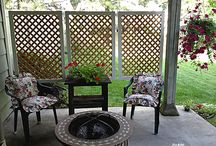Garden patio and fences
