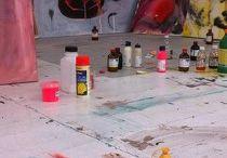 Artist at work / studio impressions
