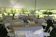 tent and table decorations