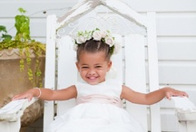 little girls on wedding day / by lillie's flowers for weddings and celebrations