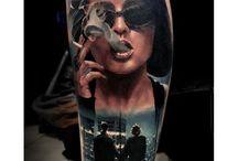 Leg tattoo references