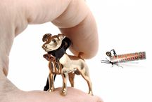 Vakkancs Jack Russel Terrier mini-sculpture jewelry