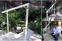Geländer / Geländersysteme für Privat aus Rohren und Rohrverbindern - Auch behindertengerecht möglich