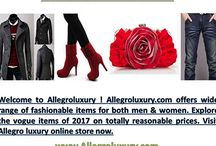 Allegroluxury / Welcome to Allegroluxury - 388 2nd Box 122, NY NY 10010, Ph. 844-321-8166! Allegroluxury.com  offers wide range of fashionable items for both men & women. Explore the vogue items of 2017 on totally reasonable prices. Visit Allegro luxury online store now.