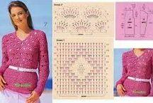 Crochet Women _ كروشيه المرأة  / Pattern ideas crochet patterns for women - باترون أفكار نماذج كروشيه للمرأة / by Nariman Aburish