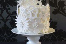 bílý dort
