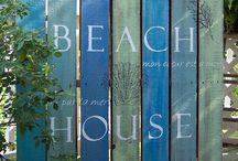 Beach signs