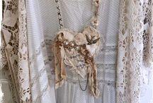 Fabric mixed media jewellery