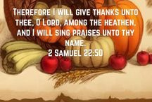 30 Days Of Thanksgiving / Thanksgiving themed scriptures through the month of November