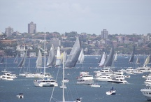 Sydney to Hobart Yacht Race Start 2012 / The start of the 2012 Sydney to Hobart Yacht Race was a speedy affair with the lead boat Wild Oats XI exiting Sydney Harbour in around 6 minutes. The entire fleet had left the harbour within half an hour of the race start.