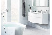 JOY - be seduced by its soft, billowing shape. / Bathroom unit with clean billowing lines.