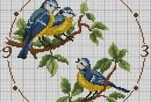 Filet & Tapestry Crochet + cross stitching