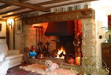 Fireplace beams /  Create a feature with oak fireplace beam, mantle shelf & corbels. Tradition & craft suited to any home.