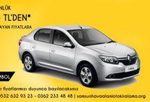 Samsun araç kiralama / Samsundaki araç kiralama firmaları ve fiyatları
