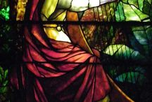 Music themed stained glass windows