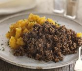 Haggis / Our Haggis recipe dates back to over 100 years when John Campbell created the original Haggis recipe. This is now made by the 4th generation of the family, to the same traditional recipe, using only the finest ingredients, Scottish Lamb and Oats and our secret blend of seasoning.