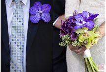 colorful BOUTINEERS / Just groom or groomsmen boutonnieres. #groomsmen #groom #florals #boutineers #weddings #weddingphotography #nepweddings