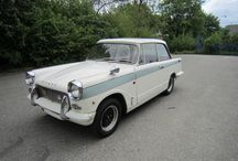 Triumph Herald / Styled by the Italian designer Michelotti, the Triumph Herald was offered as saloon, coupe, convertible, estate or van derivatives. The first variants to be released were the coupe and saloon models in 1959 and the remaining convertible, estate and van variants were available within the following two years.