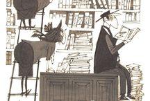 b&w illustration