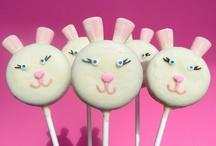 Chocolate covered Oreo bunnies