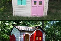 Plastic Toy Spraypaint Makeovers / Thrift stores and garage sales are full of plastic toys that work great but are faded or the wrong color. Save them from the landfill--and save big bucks--by giving them a spraypaint makeover. / by Angie Wynne
