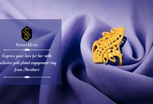 Gold Plated Engagement Ring / Gold Plated Engagement Ring